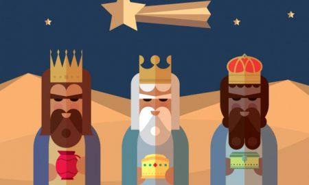 tres-reyes-magos-con-un-estilo-flat_1010-527